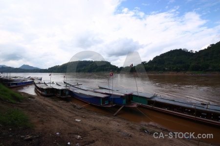 Mekong river water flag sky asia.
