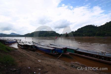 Mekong river water flag sky asia.