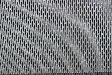 Metal texture gray grid grill.