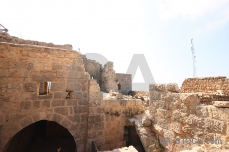 Middle east archway castle ancient jordan.