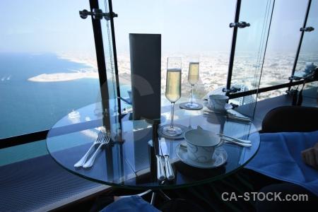 Middle east asia burj al arab sea glass.