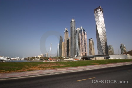 Middle east building grass uae asia.