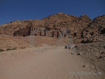 Middle east carving jordan petra rock.