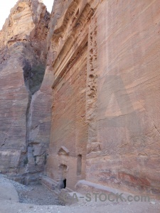 Middle east carving rock western asia nabataeans.