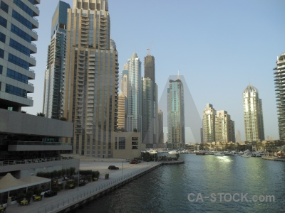 Middle east dubai asia uae canal.