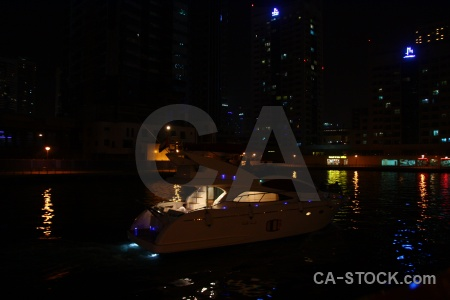 Middle east dubai canal marina water.
