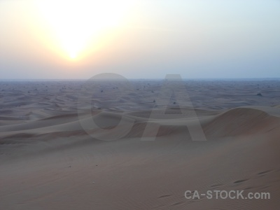 Middle east dune dubai desert sun.