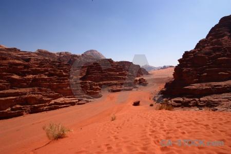 Middle east dune wadi rum asia jordan.