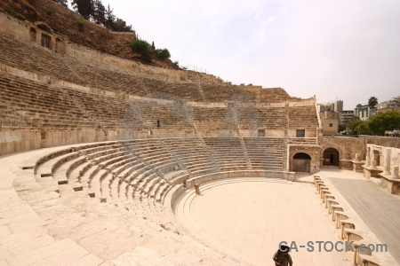 Middle east historic sky amphitheatre amman.