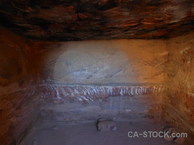 Middle east petra archaeological rock jordan.