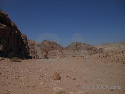 Middle east petra unesco cliff mountain.