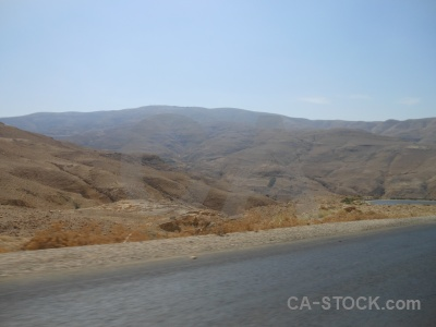 Middle east road desert western asia jordan.