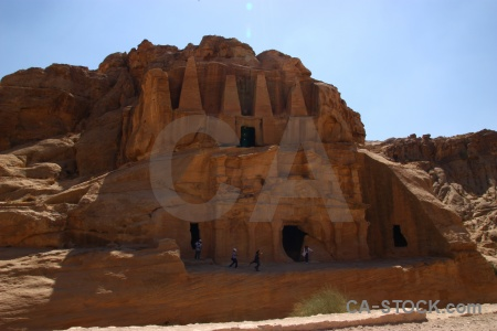 Middle east rock nabataeans tomb asia.