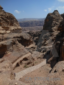 Middle east rock unesco jordan petra.