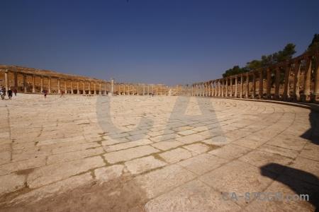 Middle east ruin asia roman jordan.