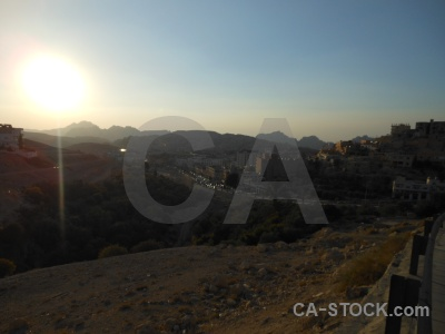 Middle east sunrise mountain sunset wadi musa.