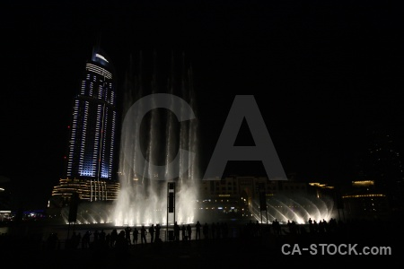Middle east uae fountain asia building.