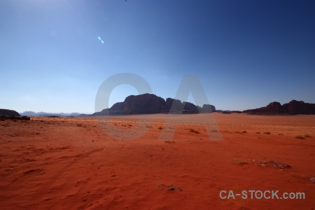 Middle east wadi rum bedouin sand mountain.