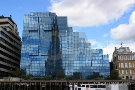Modern building blue white.