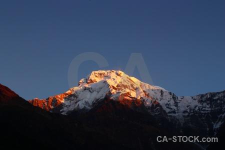 Modi khola valley annapurna sanctuary trek snowcap chhomrong himalayan.