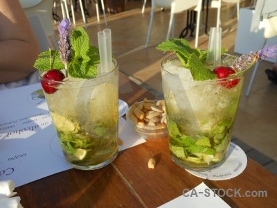 Mojito cherry straw table javea.