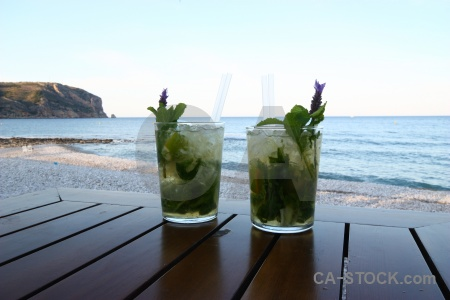 Mojito glass drink bar europe.
