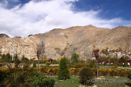 Monastery altitude bush buddhism landscape.