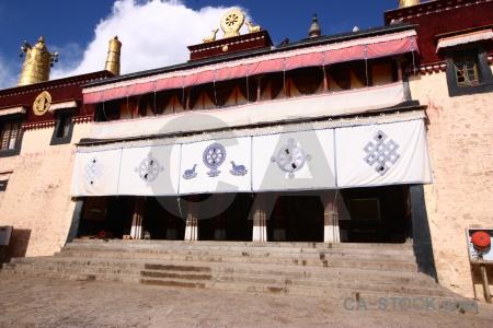 Monastery buddhism symbol sky buddhist.