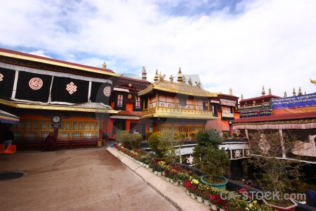 Monastery china asia lhasa sky.