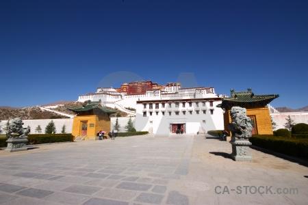 Monastery tibet altitude lhasa building.