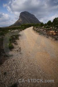 Montgo climb mountain javea spain europe.
