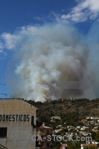 Montgo fire europe javea smoke spain.
