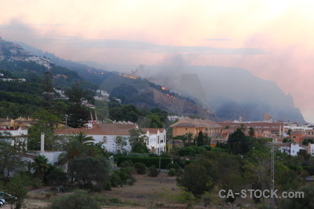 Montgo fire europe javea spain smoke.