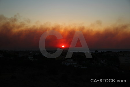Montgo fire europe sunset javea smoke.