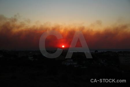 Montgo fire europe sunset javea smoke.