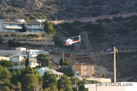 Montgo fire firefighting europe spain helicopter.