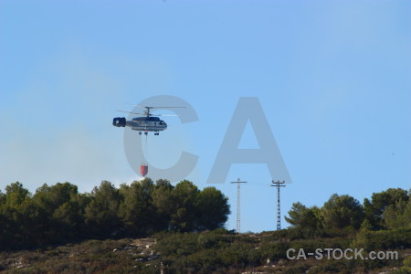 Montgo fire firefighting javea helicopter vehicle.