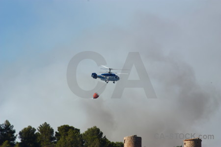 Montgo fire firefighting spain europe smoke.