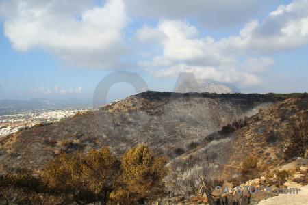 Montgo fire spain europe javea ash.
