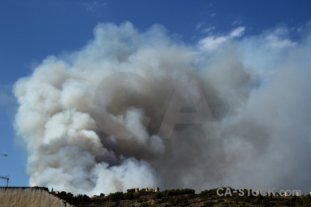 Montgo fire spain europe javea smoke.