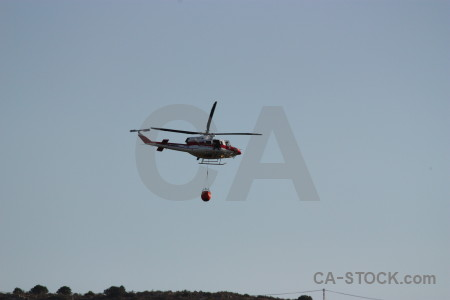 Montgo fire vehicle helicopter spain javea.