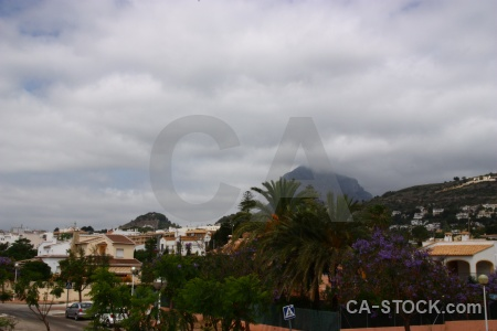 Montgo javea cloud building sky.