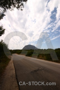 Montgo road spain sky cloud.