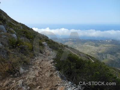 Montgo sky cloud rock spain.