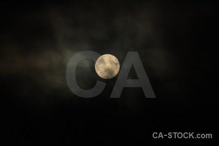 Moon black cloud.