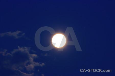 Moon blue cloud.