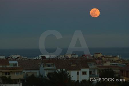 Moon javea europe spain.