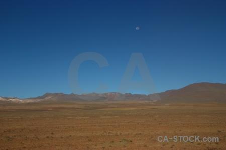 Moon south america bolivia mountain landscape.