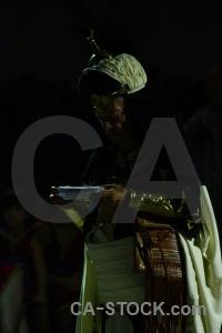 Moors christian fiesta costume person.
