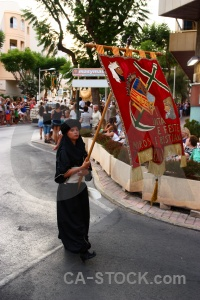 Moors costume christian javea flag.